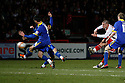 Michael Bostwick of Stevenage shoots at goal. - Stevenage v Leyton Orient- npower League 1 - Lamex Stadium, Stevenage - 2nd January 2012  .© Kevin Coleman 2012