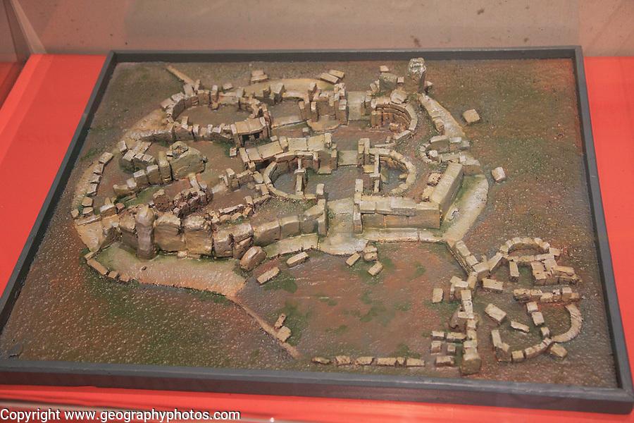 Hagar Qim temple model in National Museum of Archaeology, Valletta, Malta