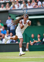 England, London, Juli 02, 2015, Tennis, Wimbledon, Dustin Brown (GER) in his match against Rafael Nadal (ESP)<br /> Photo: Tennisimages/Henk Koster