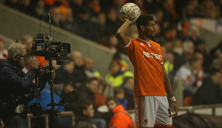 Blackpool's Michael Nottingham<br /> <br /> Photographer Stephen White/CameraSport<br /> <br /> Emirates FA Cup Third Round - Blackpool v Arsenal - Saturday 5th January 2019 - Bloomfield Road - Blackpool<br />  <br /> World Copyright © 2019 CameraSport. All rights reserved. 43 Linden Ave. Countesthorpe. Leicester. England. LE8 5PG - Tel: +44 (0) 116 277 4147 - admin@camerasport.com - www.camerasport.com