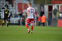 Dale Gorman of Stevenage during Stevenage vs Cambridge United, Sky Bet EFL League 2 Football at the Lamex Stadium on 14th April 2018