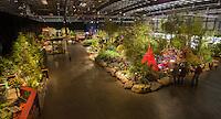 Garden exhibits floor at San Francisco Flower & Garden Show 2014