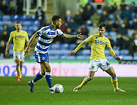 Reading's Lewis Baker (left) under pressure from Leeds United's Jamie Shackleton (right) <br /> <br /> Photographer David Horton/CameraSport<br /> <br /> The EFL Sky Bet Championship - Reading v Leeds United - Tuesday 12th March 2019 - Madejski Stadium - Reading<br /> <br /> World Copyright &copy; 2019 CameraSport. All rights reserved. 43 Linden Ave. Countesthorpe. Leicester. England. LE8 5PG - Tel: +44 (0) 116 277 4147 - admin@camerasport.com - www.camerasport.com