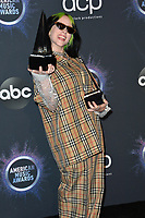 LOS ANGELES, USA. November 25, 2019: Billie Eilish at the 2019 American Music Awards at the Microsoft Theatre LA Live.<br /> Picture: Paul Smith/Featureflash