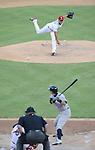 Yu Darvish (Rangers), Ichiro Suzuki (Yankees),<br /> JULY 22, 2013 - MLB :<br /> Yu Darvish of the Texas Rangers pitches to Ichiro Suzuki of the New York Yankees in the sixth inning during the Major League Baseball game at Rangers Ballpark in Arlington in Arlington, Texas, United States. (Photo by AFLO)