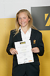 Girls Cricket winner Jessie Latimer. ASB College Sport Young Sportperson of the Year Awards 2007 held at Eden Park on November 15th, 2007.