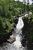 Dorwin falls in summer, Rawdon, Quebec