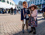 November 3, 2018 : Two young fans pose for a photo on Breeders Cup World Championships Saturday at Churchill Downs on November 3, 2018 in Louisville, Kentucky. Scott Serio/Eclipse Sportswire/CSM