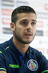 Getafe's new player Victor Rodriguez during his official presentation. August 5, 2014. (ALTERPHOTOS/Acero)