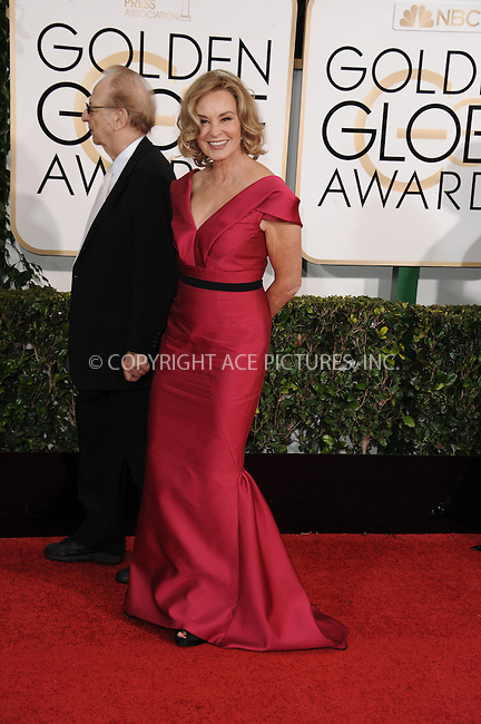 WWW.ACEPIXS.COM<br /> <br /> January 11 2015, LA<br /> <br /> Jessica Lange arriving at the 72nd Annual Golden Globe Awards at The Beverly Hilton Hotel on January 11, 2015 in Beverly Hills, California. <br /> <br /> <br /> By Line: Peter West/ACE Pictures<br /> <br /> <br /> ACE Pictures, Inc.<br /> tel: 646 769 0430<br /> Email: info@acepixs.com<br /> www.acepixs.com