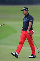 Hideki Matsuyama (JPN) on the 9th green  during the 1st round at the WGC HSBC Champions 2018, Sheshan Golf Club, Shanghai, China. 25/10/2018.<br /> Picture Fran Caffrey / Golffile.ie<br /> <br /> All photo usage must carry mandatory copyright credit (&copy; Golffile | Fran Caffrey)