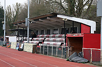 General view of the grandstand during AFC Hornchurch vs Waltham Abbey, Bostik League Division 1 North Football at Hornchurch Stadium on 13th January 2018