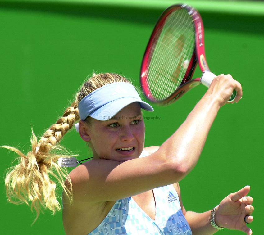 Australian Open Tennis 2003.13/01/2003.Anna Kournikova of Russia in first round match against Henrieta Nagyova of Slovakia.
