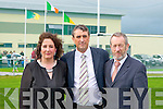 The official opening of John Mitchels GAA Sports Complex on Sunday l-r: Brid McElligott (Chairperson), Rory Killgallen (development officer) and Sean Kelly (MEP).