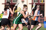 Santa Barbara, CA 02/13/10 - Olivia Norvez (Oregon #3) in action during the Texas-Oregon game at the 2010 Santa Barbara Shoutout, Texas defeated Oregon 11-9.