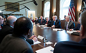 United States President Donald J. Trump speaks to the media during a Cabinet meeting at the White House on December 6, 2017 in Washington, D.C. <br /> Credit: Kevin Dietsch / Pool via CNP