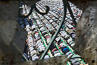 Baghdad, Iraq, May 23, 2003.Thousands of Shiai'i worship during the Friday prayer in Al Khaddamein, the most important Shiai'i shrine in Baghdad.