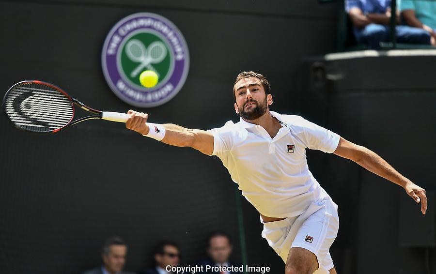 Marin Cilic (CRO) in action