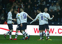 Preston North End's Alan Browne (#8) celebrates scoring his side's equalising goal to make the score 1-1<br /> <br /> Photographer Stephen White/CameraSport<br /> <br /> The EFL Sky Bet Championship - Preston North End v Hull City - Wednesday 26th December 2018 - Deepdale Stadium - Preston<br /> <br /> World Copyright &copy; 2018 CameraSport. All rights reserved. 43 Linden Ave. Countesthorpe. Leicester. England. LE8 5PG - Tel: +44 (0) 116 277 4147 - admin@camerasport.com - www.camerasport.com