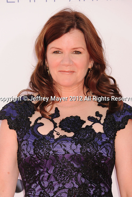 LOS ANGELES, CA - SEPTEMBER 23: Mare Winningham arrives at the 64th Primetime Emmy Awards at Nokia Theatre L.A. Live on September 23, 2012 in Los Angeles, California.