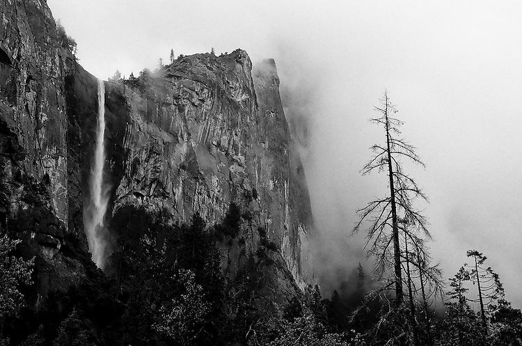Bridalveil Falls,  Yosemite NP    35mm image on Ilford Delta 100 film