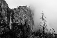 Bridalveil Falls,  Yosemite NP    35mm image on Ilford Delta 100 film