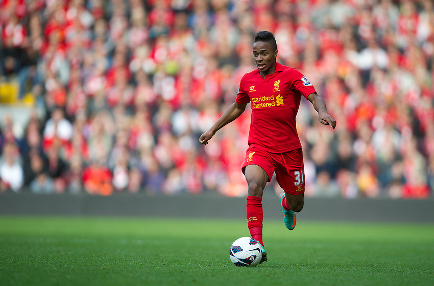 Liverpool's Raheem Sterling ..Football - Barclays Premiership - Liverpool v Stoke City - Sunday 7th October 2012 - Anfield - Liverpool..