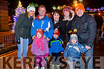 Maria Curtin, Maurice Roche, Rebecca Roche, Anna Curtin and Alan Teahan with in front, Grace and Adam Roche and Noah Teahan at the New Year's Eve fireworks display in Denny Street