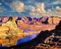 Lake Powell reflection as seen from Alstrom Point, Utah