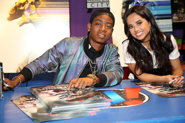 KING OF PRUSSIA, PA - MARCH 2 :  Becky G and RJ Cyler pictured at the Power Rangers meet and greet at Uncanny! in the King Of Prussia Mall in King Of Prussia, Pa on March 2, 2017  ***EXCLUSIVE***  photo credit Star Shooter/MediaPunch