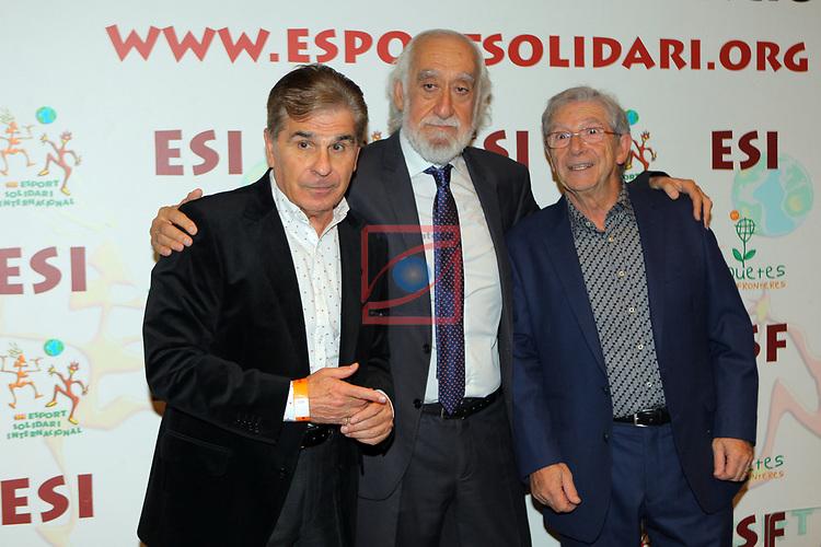 XIV Sopar Solidari de Nadal.<br /> Esport Solidari Internacional-ESI.<br /> Pedro Ruiz, Josep Maldonado & Joan Pere.