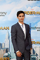 """LOS ANGELES - JUN 28:  Max Ehrich at the """"Spider-Man: Homecoming"""" at the TCL Chinese Theatre on June 28, 2017 in Los Angeles, CA"""