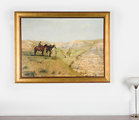 Thomas Eakins 1888 Cowboys in the Badlands, Smaller Version<br />