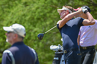 Brett Stegmaier (USA) watches his tee shot on 2 during Round 1 of the Valero Texas Open, AT&amp;T Oaks Course, TPC San Antonio, San Antonio, Texas, USA. 4/19/2018.<br /> Picture: Golffile | Ken Murray<br /> <br /> <br /> All photo usage must carry mandatory copyright credit (&copy; Golffile | Ken Murray)