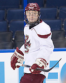 Tommy Atkinson (BC - 28) - The Boston College Eagles practiced on Wednesday, April 4, 2012, during the 2012 Frozen Four at the Tampa Bay Times Forum in Tampa, Florida.