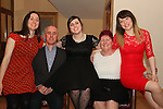Louse, Maichael,Joy, Liz and Michelle McKeon at Joy's 21st Birthday Party in The Thatch.<br /> Picture: Shane Maguire / www.newsfile.ie