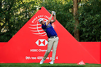 Bernd Wiesberger (AUT) on the 9th tee during round 1 at the WGC HSBC Champions, Sheshan Golf Club, Shanghai, China. 31/10/2019.<br /> Picture Fran Caffrey / Golffile.ie<br /> <br /> All photo usage must carry mandatory copyright credit (© Golffile | Fran Caffrey)