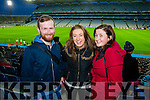 Jack Dickson, Ciara Carty and Fiona Commins, proud supporters of St Mary's Cahersiveen win over Hollymount-Carramore, Mayo, at the Intermediate football final held in Croke Park on Sunday.