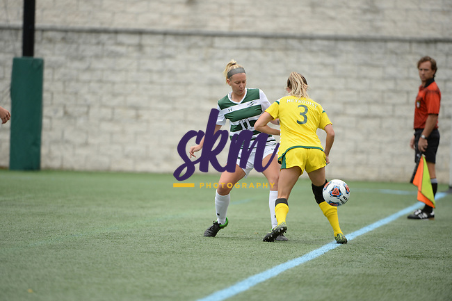 Stevenson women's soccer shuts out the Monarchs in their home opener on Friday night at Mustang Stadium in Owings Mills, garnering new head coach Tati Korba her first win.