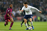 Dele Alli of Tottenham Hotspur and Raheem Sterling of Manchester City during Tottenham Hotspur vs Manchester City, Premier League Football at Wembley Stadium on 14th April 2018