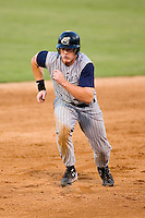 Lake County designated hitter Nick Weglarz (8) takes off from second base versus Kannapolis at Fieldcrest Cannon Stadium in Kannapolis, NC, Saturday, August 11, 2007.
