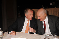 T Boone Pickens and John Glenn at a press conference for the Annual National Football Foundation Awards at the Waldorf Astoria, New York City. December 9, 2008.  Credit: Dennis Van Tine/MediaPunch