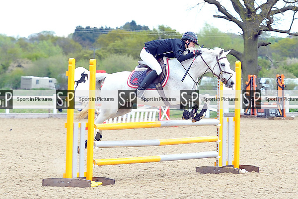 Class 3. Pony Discovery. 1st round. British Showjumping Juniors. Brook Farm Training Centre. Essex. 25/04/2015. MANDATORY Credit Ellie Ingram/Sportinpictures - NO UNAUTHORISED USE - 07837 394578