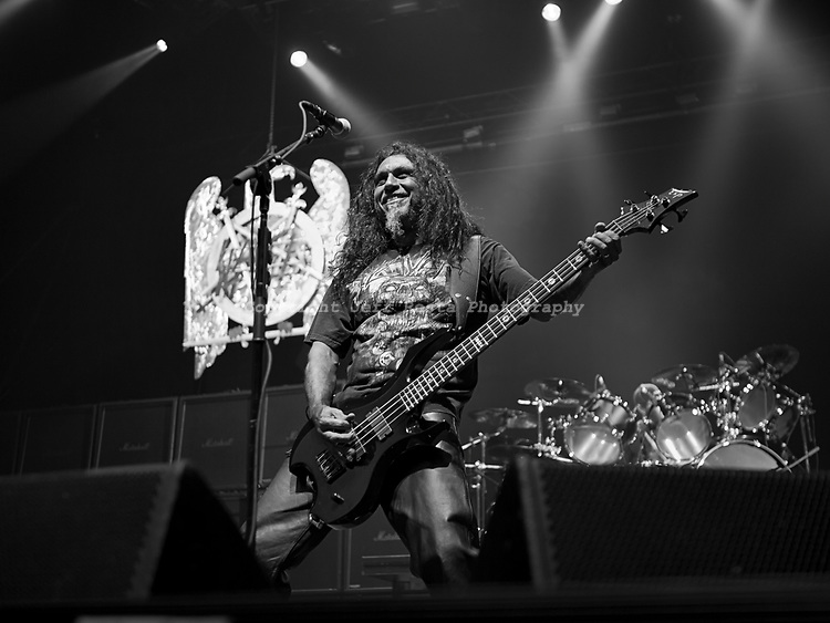 Slayer live in concert at Superpages Center on September 24, 2010 in Dallas, TX.