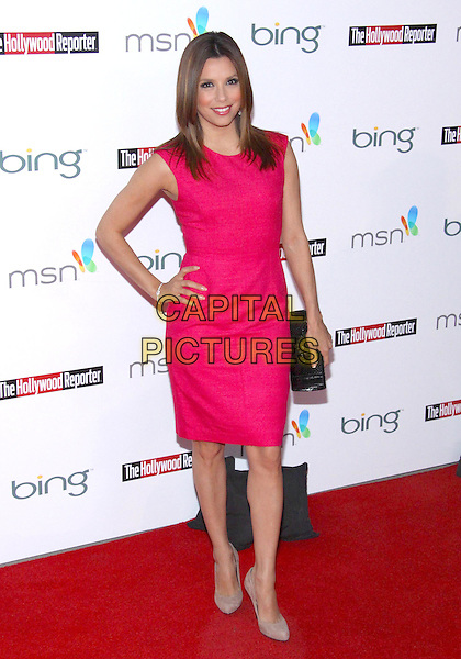 EVA LONGORIA PARKER .The Hollywood  Reporter Honoring Oscar Nominees  held at The Getty House,  Los Angeles, California, USA, 5th March 2010..full length pink dress sleeveless hand on hip black clutch bag grey gray shoes .CAP/ADM/TC.©T. Conrad/AdMedia/Capital Pictures.