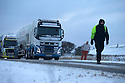 13/01/17<br />  <br /> Traffic gets stuck on the A515 after heavy snow between Buxton and Ashbourne in the Derbyshire Peak District.<br /> <br /> All Rights Reserved F Stop Press Ltd. (0)1773 550665   www.fstoppress.com