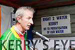 Brian McCarthy making his speech at the Right 2 Water protest in Killarney on Saturday