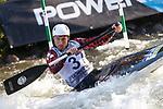 28th September 2019; Canal Olimpic del Segre, La Seu d'Urgell, Catalonia, Spain; ICF Canoe Slalom, World Championships, MC1 Men's Canoe canoe. Picture show Cameron Smedley (CAN) in action