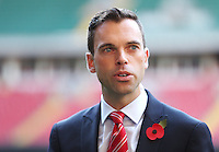 Monday 3 November 2014<br /> Pictured: Deputy Minister of Culture, Sport and Tourism, Ken Skates<br /> Re: WRU unveils new hybrid pitch at the Millennium Stadium, Cardiff.