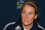 04 December 2008: Senior Elise Weber. The Notre Dame Fighting Irish held a press conference at WakeMed Soccer Park in Cary, NC one day before their NCAA Women's College Cup semifinal game.